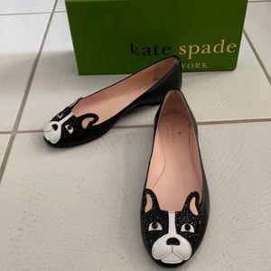 Kate Spade Winthrop French Bulldog Ballet Flats 8